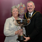 Recognition for club President Mary Harding