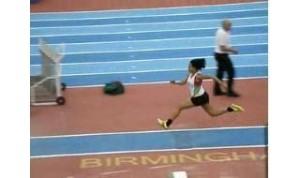 Tannika Burgess action shot triple jump